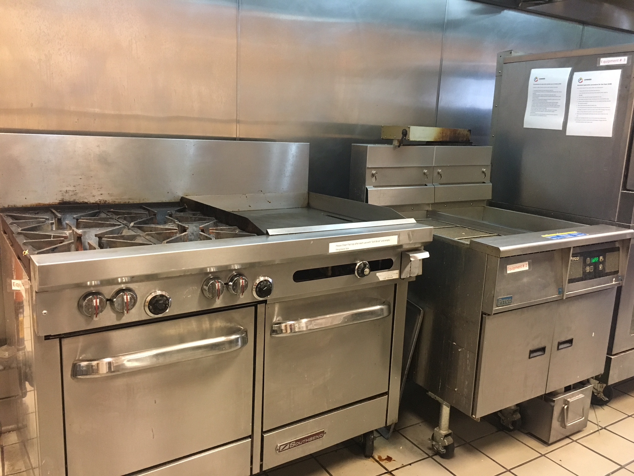 flat top, burners and ovens combo units